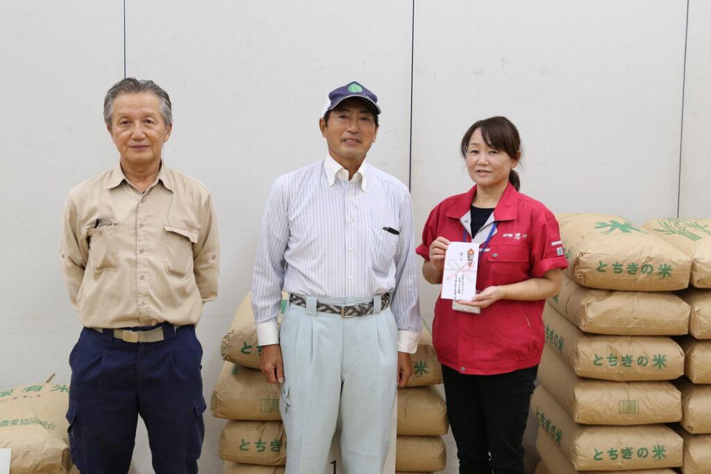 農家の米フードバンクへ